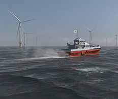 Case Study - 3D animated video of Turbine access system for Houlder Ltd