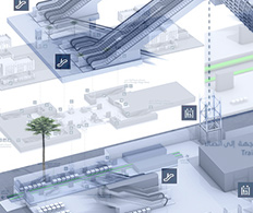 Case Study - 3D rendered wayfinding infographics for Dubai Metro
