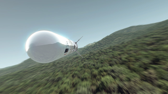 Dynamic still from CGI Animated video of the Ceptor-L missile